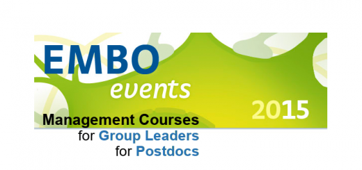 EMBO management courses for group leaders and postdocs
