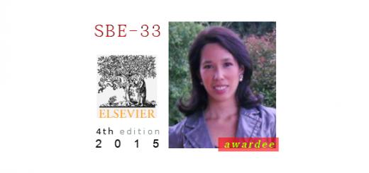 Cecilia Artola Recolons, awarded the SBE-33 prize, 2015