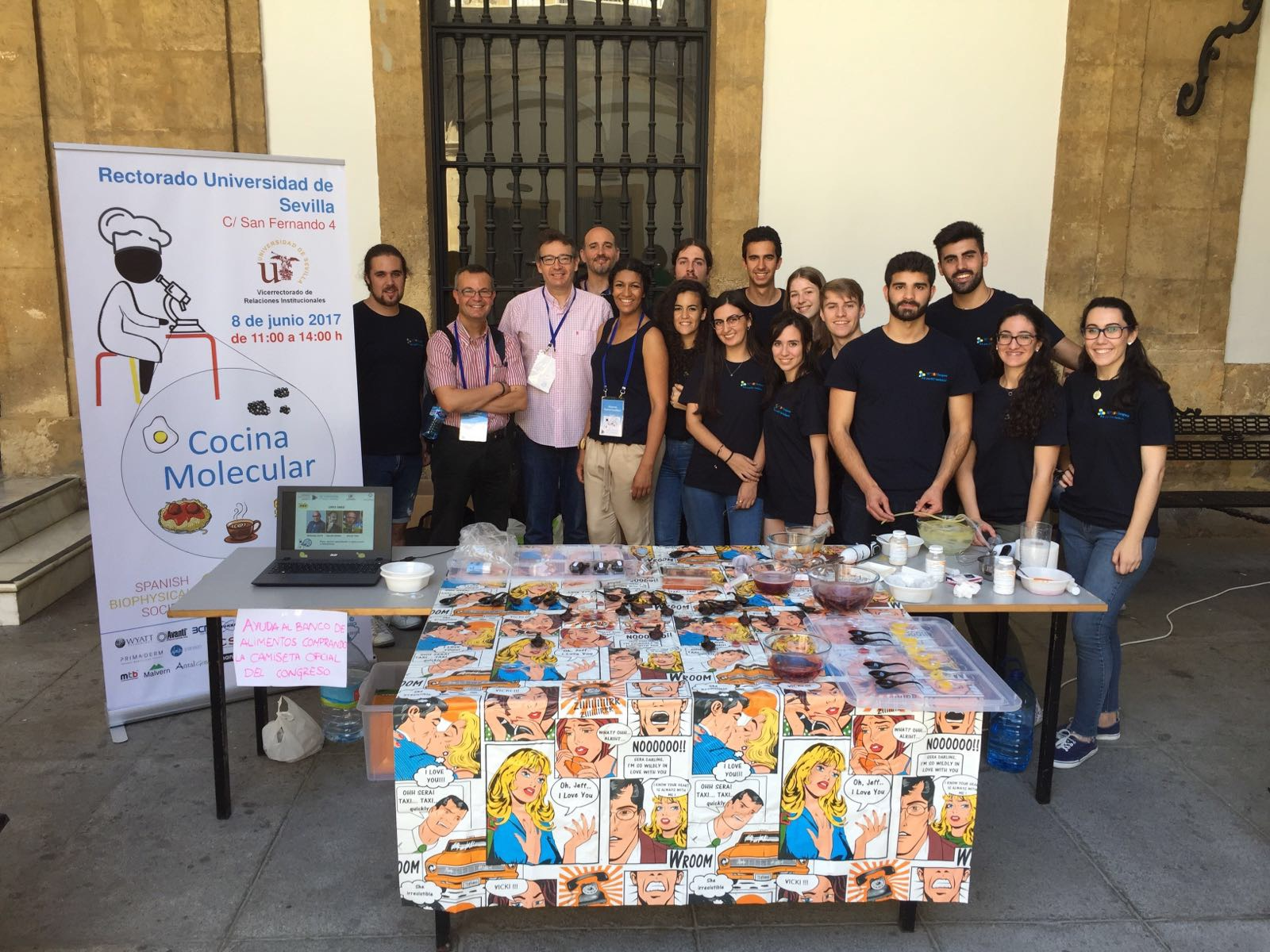 Biophysics in the City, aimed to bring Biophysics closer to Society.